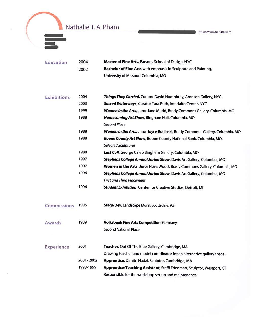 Nathalie Pham's Resume